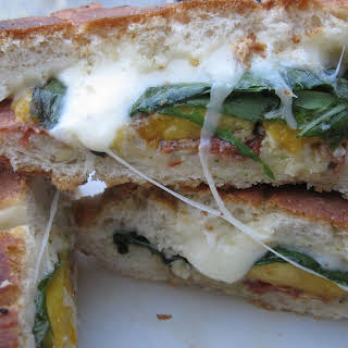 Grilled Peach and Pancetta Sandwiches.