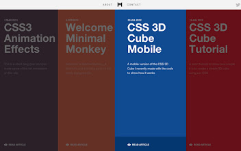 Photo: Site of the Day 6 March 2013 http://www.awwwards.com/web-design-awards/minimal-monkey#