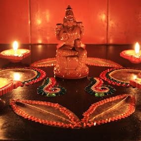 Deepavali 2 by Guru Prasad - Artistic Objects Other Objects ( guru prasad, deepavali, guru's photo, festival, light, light art )
