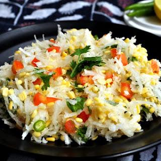 Moong Mooli Koshimbir - Yellow Lentil and Radish Salad