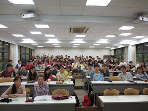 Photo: It was my pleasure to teach these Tunghai University undergraduate students