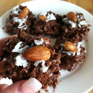 Gooey Chocolate Almond Coconut Stacks.