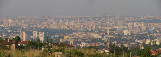 Photo: Sofia, panoramic view from Gorna Bania.