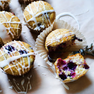 Little Lemon-Blueberry Cakes with Lemon Glaze