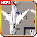 Airport (with Airplanes) Mod MC Pocket Edition icon