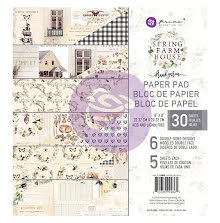 Prima Double-Sided Paper Pad 8X8 30/Pkg - Spring Farmhouse UTGÅENDE