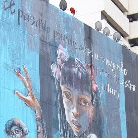 Dedicado a... by Bill Steffler - City,  Street & Park  Street Scenes