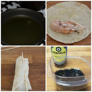 Chicken Taquitos with Honey-Soy Sauce #KikkomanSaborLBC #ad