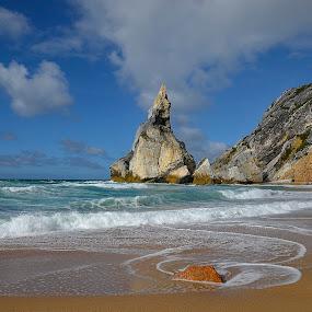 Praia da Ursa by Julio Cardoso - Landscapes Beaches ( cabo da roca, praia, sintra, portugal, praia da ursa )