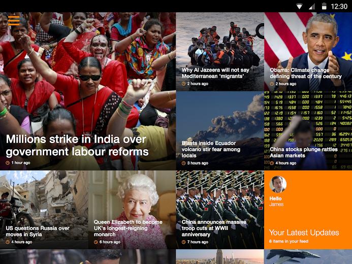 Screenshot 5 for Al Jazeera's Android app'