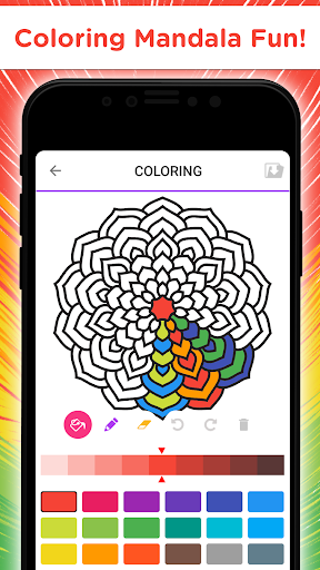 Mandala Coloring Book - Free Adult Coloring Pages 1.13 screenshots 1