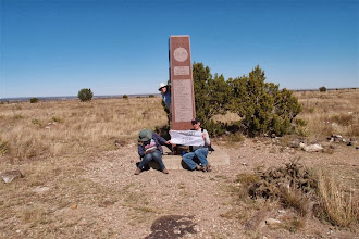 Photo: Here it is. Only 1200' to the W, New Mexico is higher....