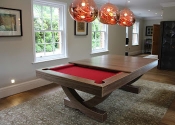 American Pool Table with Removable Dining Tops