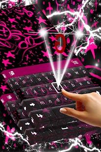 Emo Pink Keyboard Theme - náhled