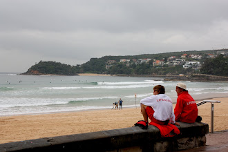 Photo: Year 2 Day 229 - Lifeguards and Beach at Manly