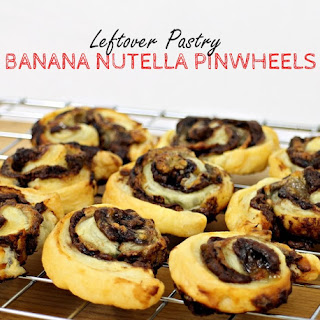 Leftover Pastry Banana Nutella Pinwheels