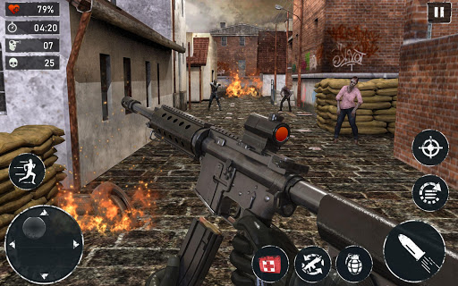 Code Triche ZOMBIE FPS 2020 - LEFT ALONE 4 DEAD : New Games APK MOD (Astuce) screenshots 2