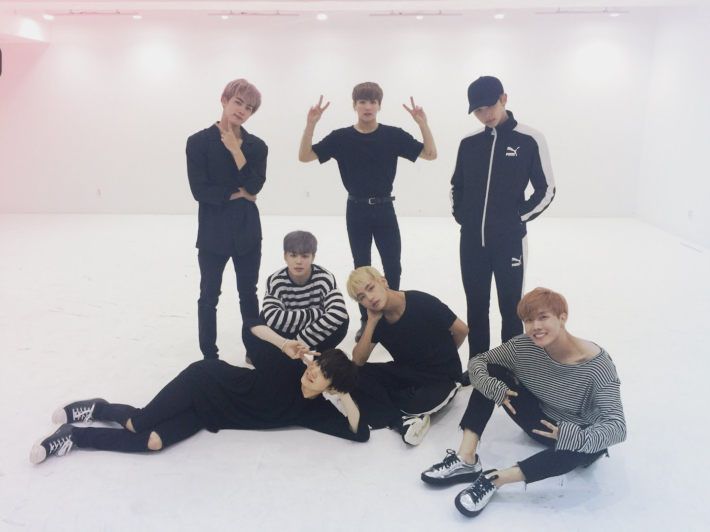 Suga in Blood sweat and tears dance practice
