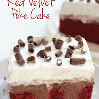 Red Velvet Poke Cake.