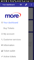 Screenshot of morebus