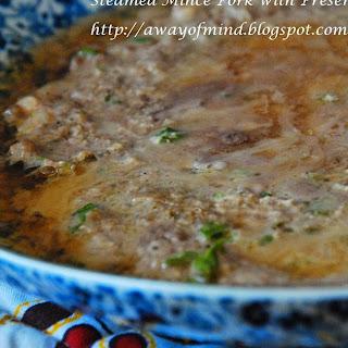 Steamed Mince Pork with Preserved Vegetables 冬菜蒸肉饼 Recipe