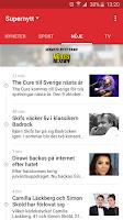 Screenshot of Aftonbladet Supernytt