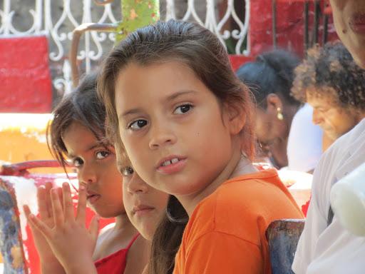 Schoolgirls during the summer in Cuba.
