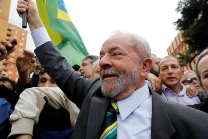 Former Brazilian President Luiz Inacio Lula da Silva arrives at Federal Justice for a testimony in Curitiba, Brazil. Picture: REUTERS