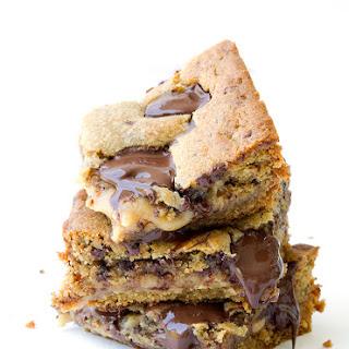 Caramel Stuffed Chocolate Chip Cookie Bars Recipe