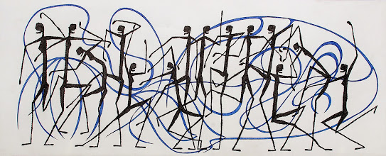 Photo: Lost In Motion | 2' x 5' | Ink on paper
