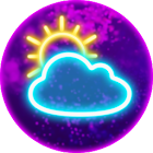 Weather Widget Neon icon