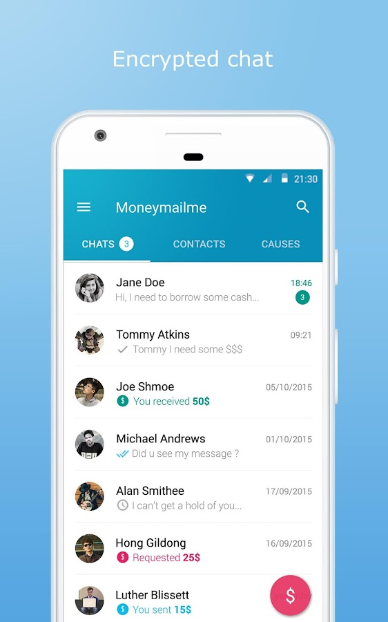 Moneymailme Money Transfer App- screenshot