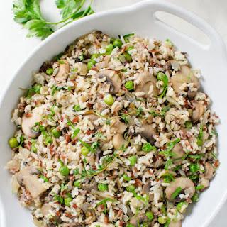 Super Easy Wild Rice Mushroom Pilaf.