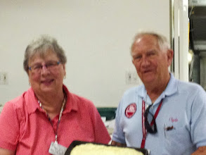 Photo: Our Birthday girl with President Clyde and a cake :).