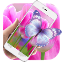 Purple Tulip HD Live Wallpaper icon