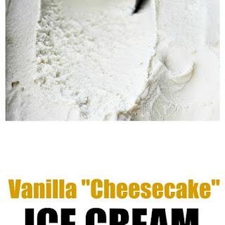 Vanilla Cheesecake Ice Cream With Caramel Sauce