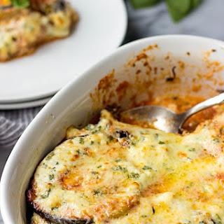 Eggplant Gratin With Feta Cheese.
