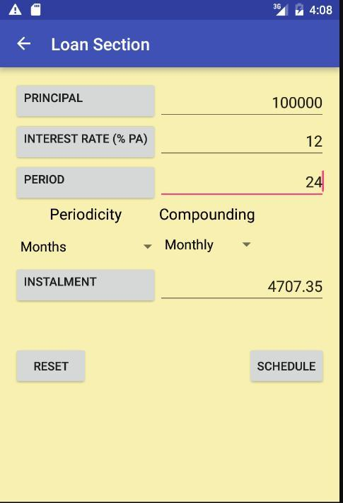 Interest(ing) Calculator- screenshot