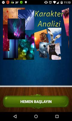 Karakter ve Kişilik Analizi - screenshot