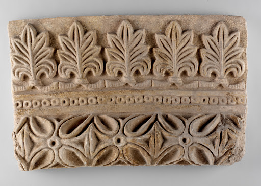 Wall decoration with vegetal and geometric design