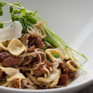Orecchiette with Sausage and Leeks.