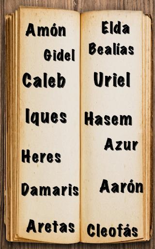 Nombres Bíblicos y significado