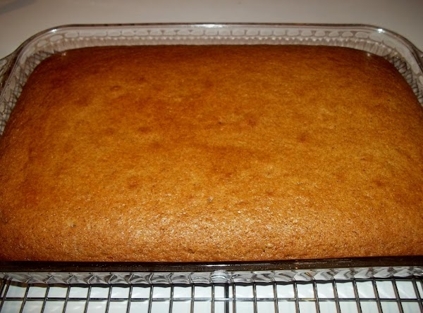 Bake cake for 45 minutes, or until tested done with toothpick.  Frost with your favorite...