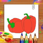 Vegetables Coloring Book & Drawing Book- Kids Game