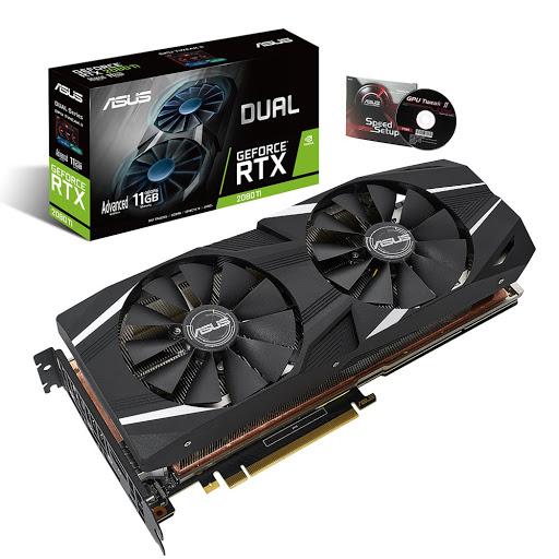 Card màn hình Asus Dual GeForce RTX 2080 Ti 11GB GDDR6 (DUAL-RTX2080TI-A11G)