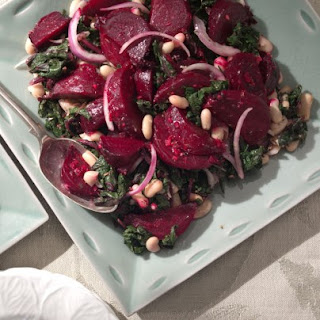 Beets and Greens Salad With Cannellini Beans