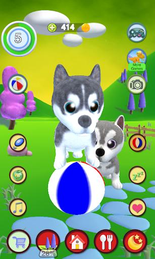 Talking Husky Dog apkdebit screenshots 4
