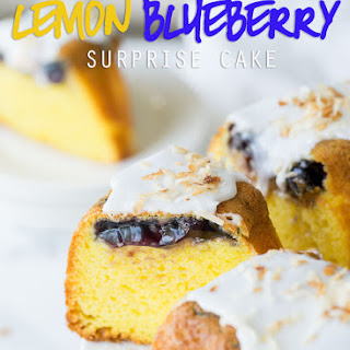 Lemon Blueberry Surprise Cake.