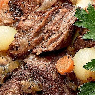 Slow Cooker Wine-Braised Beef Brisket.