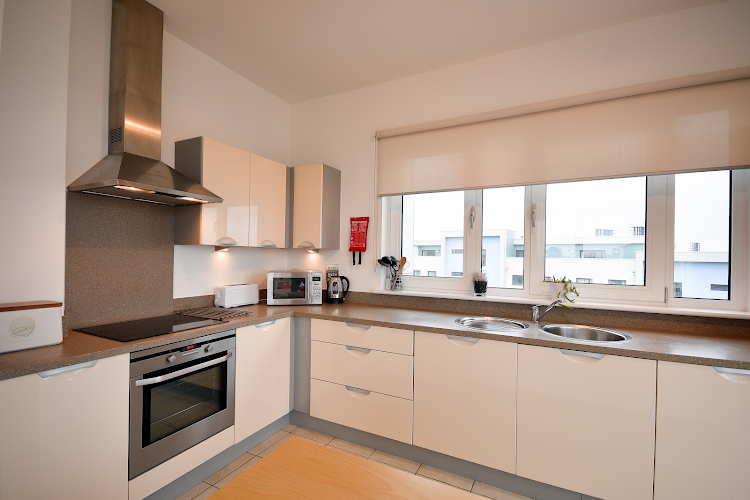 Fully equipped kitchen at Splash Apartment